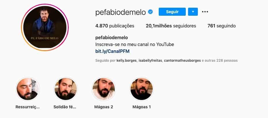 Instagram Padre Fábio de Melo