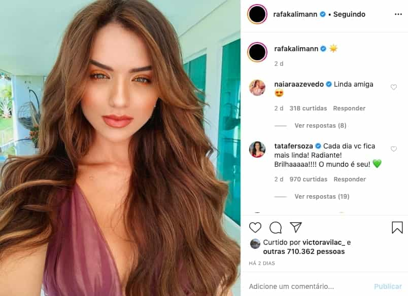 Rafa Kalimann prin instagram