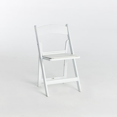 49. Resin Folding Chair-White