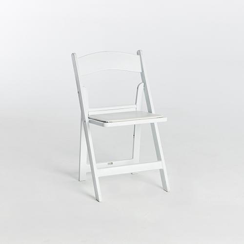 49. Resin Folding Chair-White