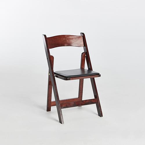 53. Wood Folding Chair-Brown