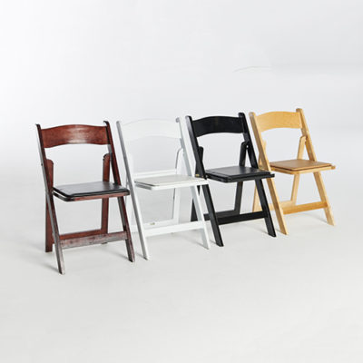 56. Wood Folding Chairs-Set
