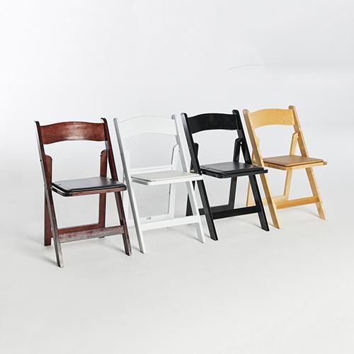 56. Wood Folding Chairs-Set