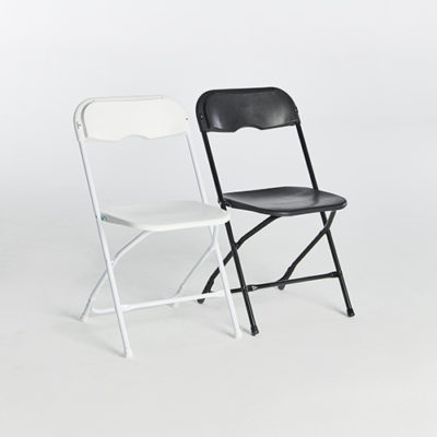 57. Plastic Folding Chairs-Set
