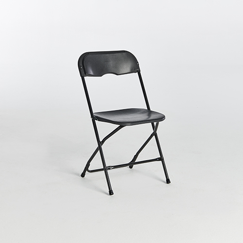59. Plastic Folding Chairs-Black