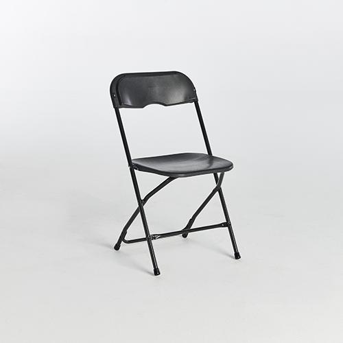 59. Plastic Folding Chairs-Black