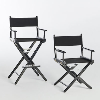 Directors Chairs-Short _ Tall-BLACK