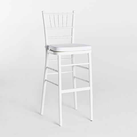 41. Chiavari Bar Stool-White