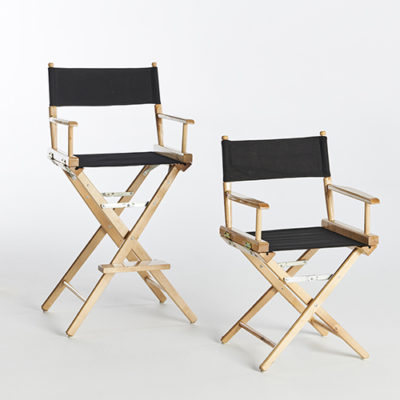 Black Directors Chairs-Short & Tall