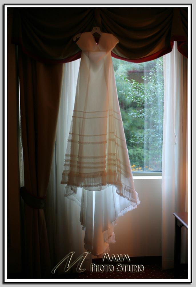 Wedding dress at Cincinnati Marriott North