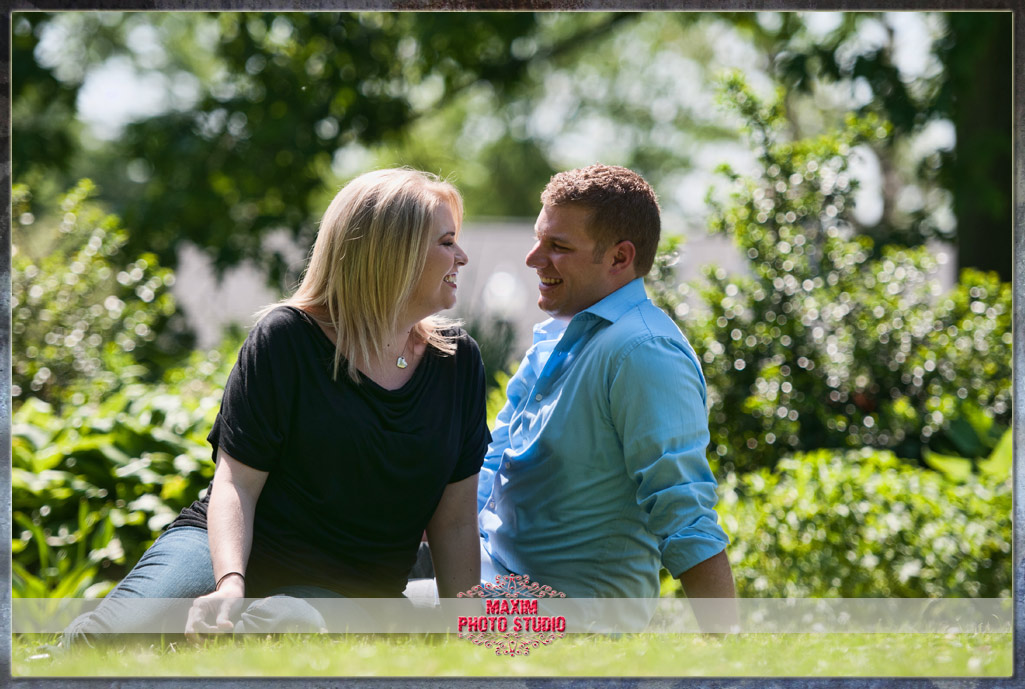 Maxim Photo Studio captured a fun engagement at Park of Roses in Columbus