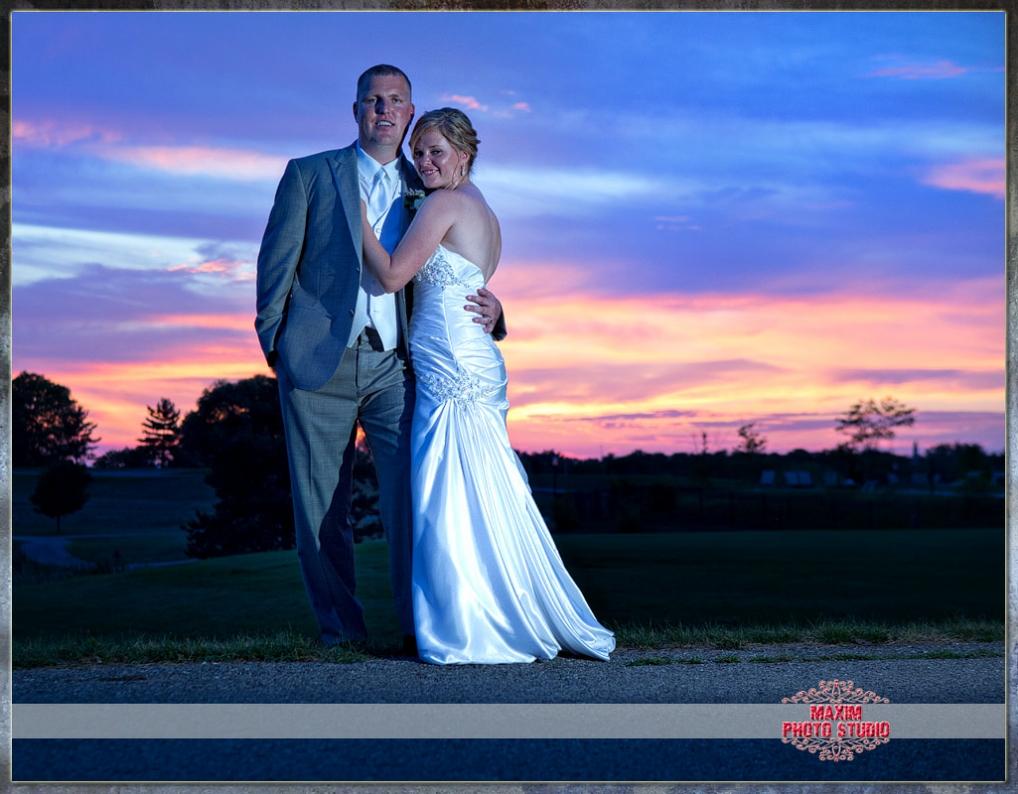 Maxim Photo Studio photographed a wedding photo 2 at Shaker run Golf club in ohio