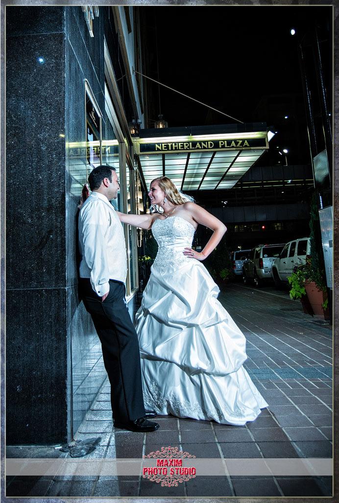 Maxim Photo Studio captured the wedding photo at Hilton-Netherlands-hotel