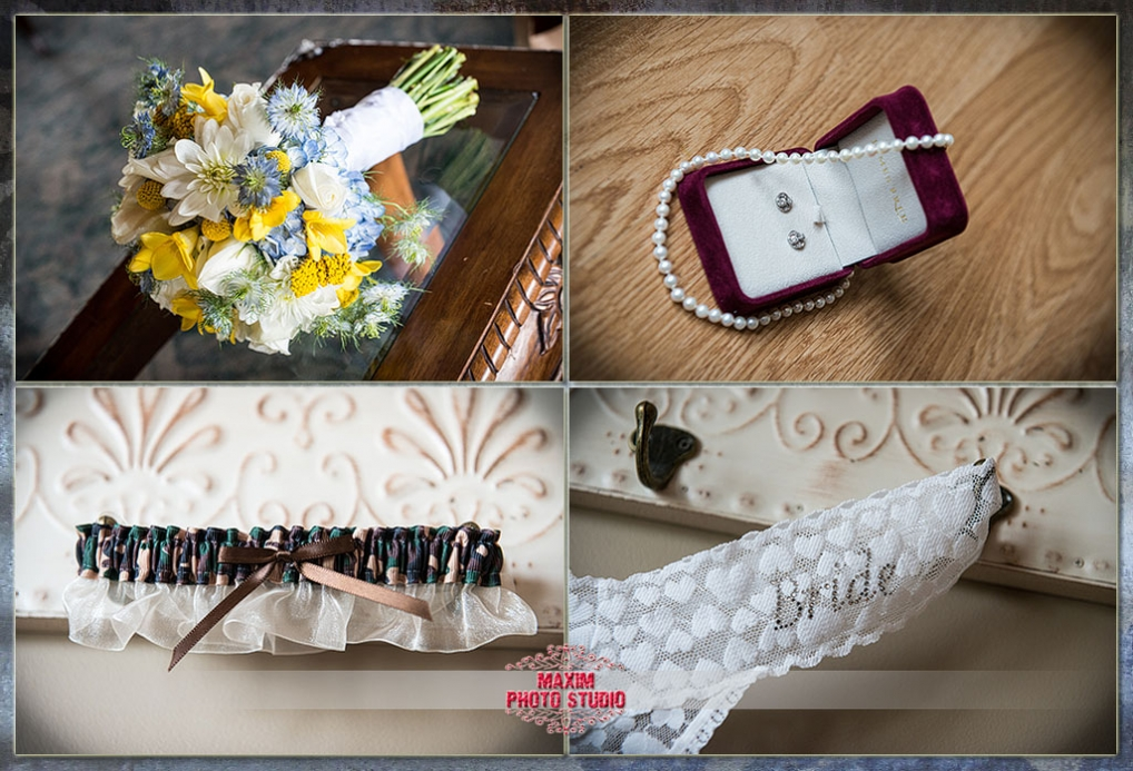 Maxim Photo Studio photographed the wedding preparation at Lake Lyndsay Lodge