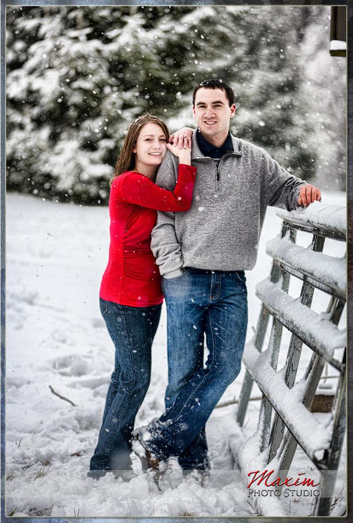 Loveland Ohio engagement photo