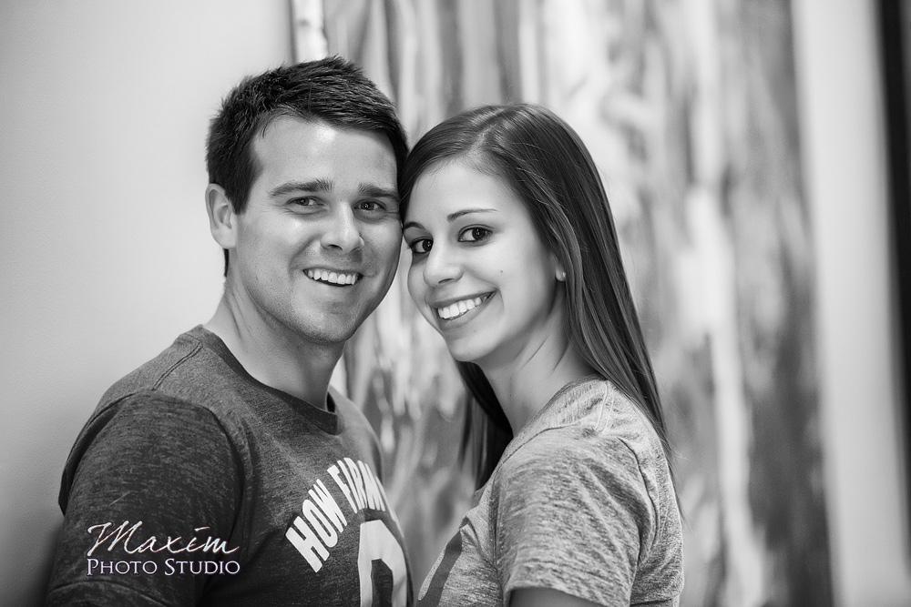 Ohio State University wedding engagement shoot