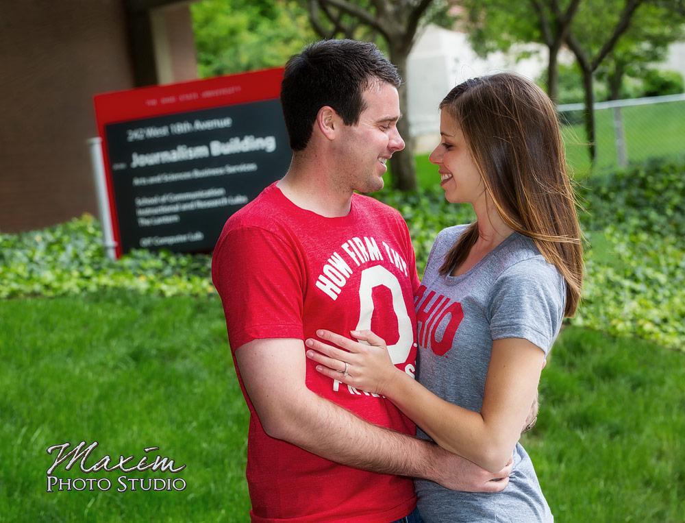 Ohio State Campus Wedding Engagement