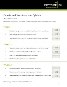 Experienced Sales Associates Syllabus