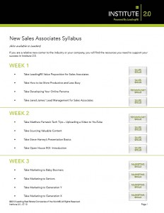 New Sales Associates Syllabus