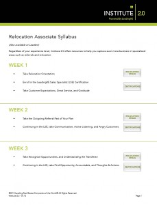 Relocation Associate Syllabus