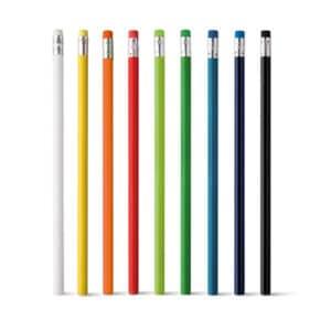 Lápis. Com borracha. Unidade: 1 dúzia de lápis. Grau de dureza: HB.