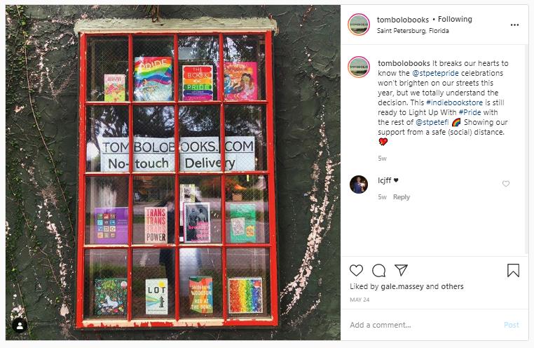 tombolo books st. pete pride 2020