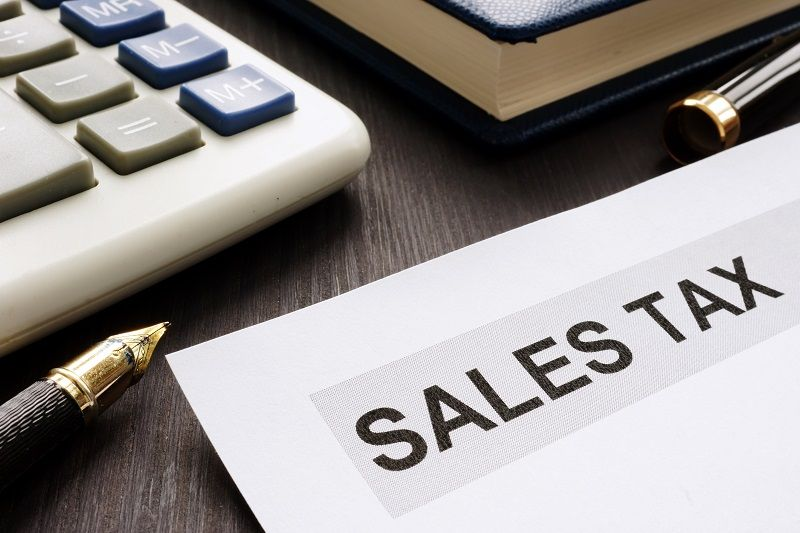 Sales-tax.-Papers-on-the-office-table.-cm