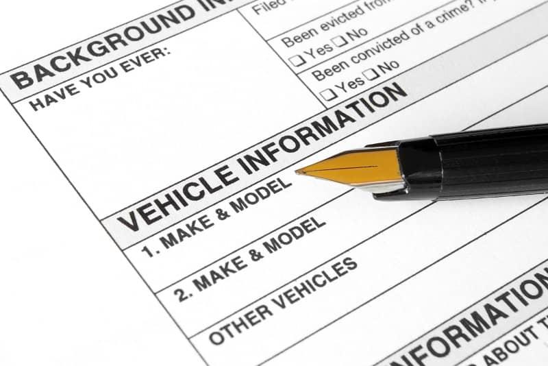 Vehicle form-cm