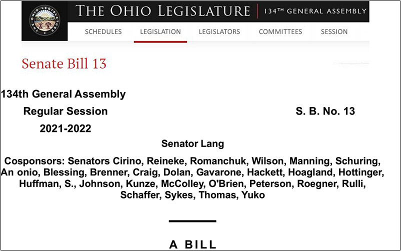 S.B.13 passed by Senate, moves to House; Consider supporting the bill