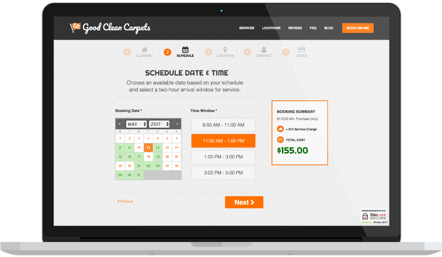 Online Booking Real Time Availability Calendar