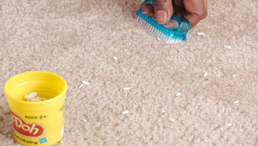 How to remove Play-Doh carpet stains