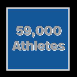 59,000 athletes