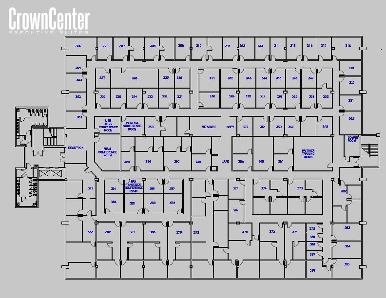 Site Plan - Crown Center Executive Suites.