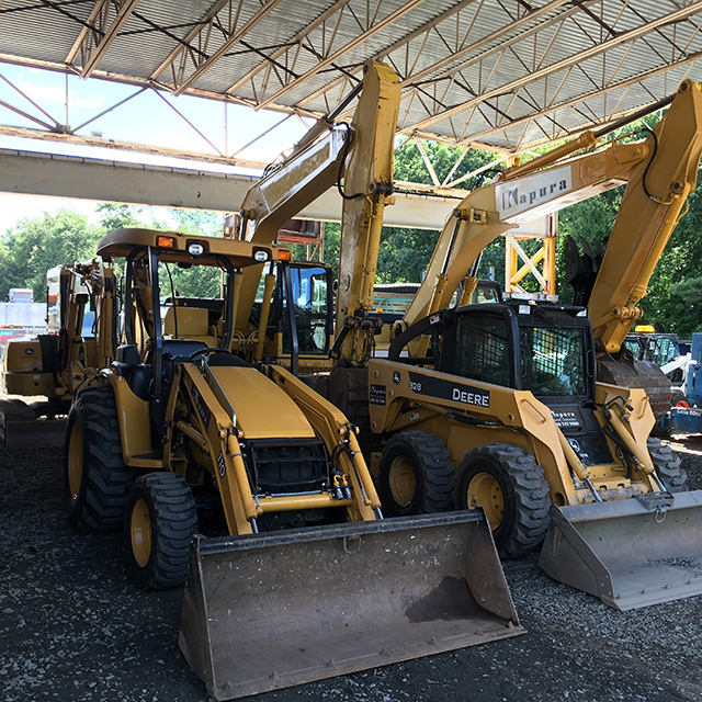 Heavy Equipment in Parking Lot