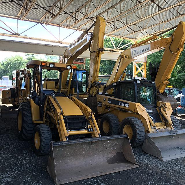 Heavy Equipment in Parking Lot
