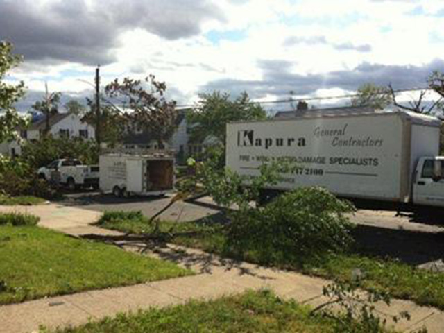 Kapura Cleaning Up Storm Damage
