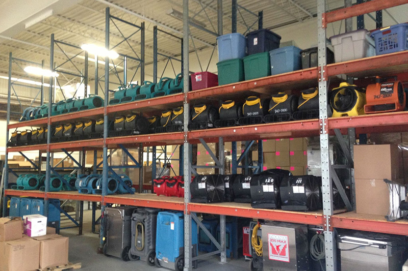 Equipment Storage in Warehouse