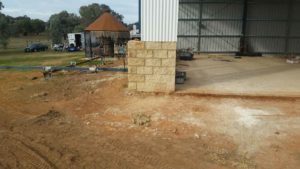 Starting a garage brick wall