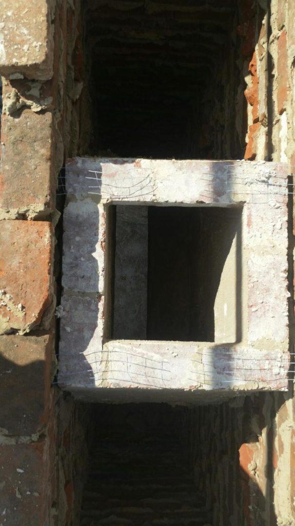 Brick fireplace/chimney