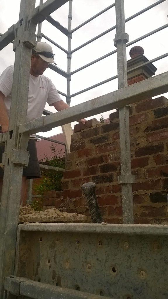 Albury brick chimney