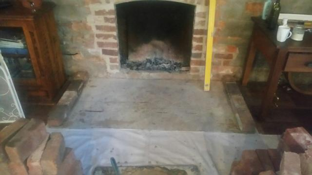 Before Chiltern Bricklaying worked on the hearth