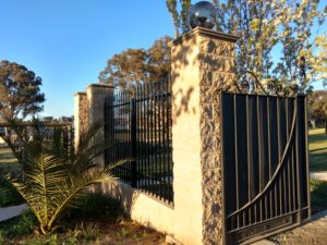 Brick fence gateway