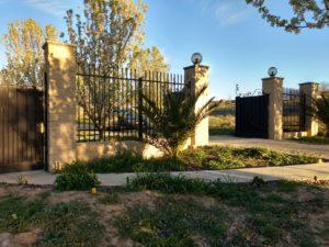 Brick front gate