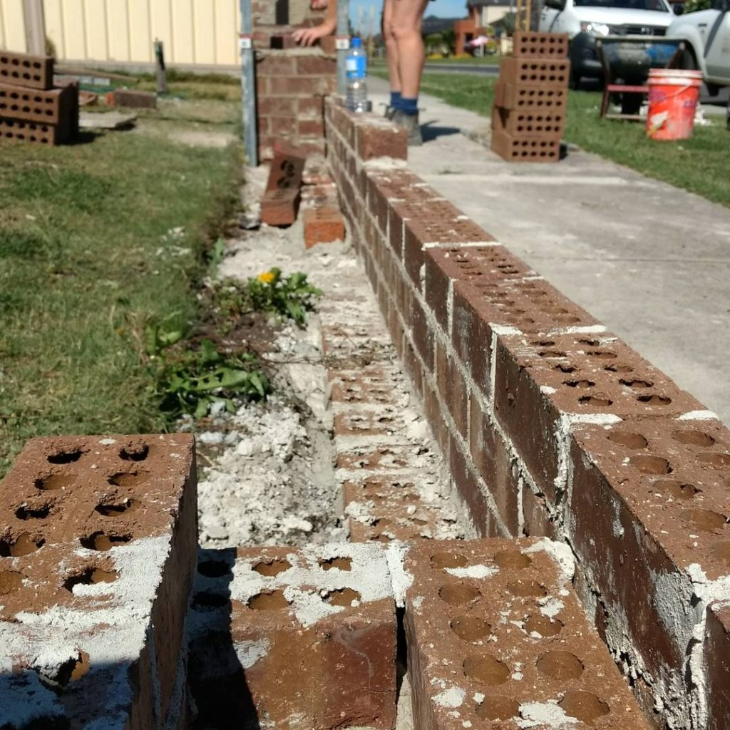 Building brick front fence