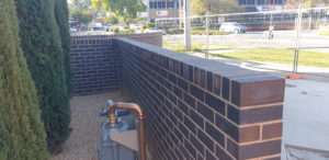 Brick wall at Wangaratta