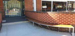 Round brick wall at Wangaratta