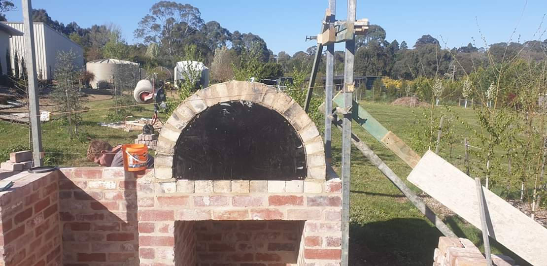 Dome bricked into place