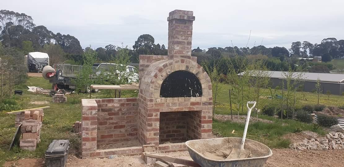 Brick Pizza Oven ready to light