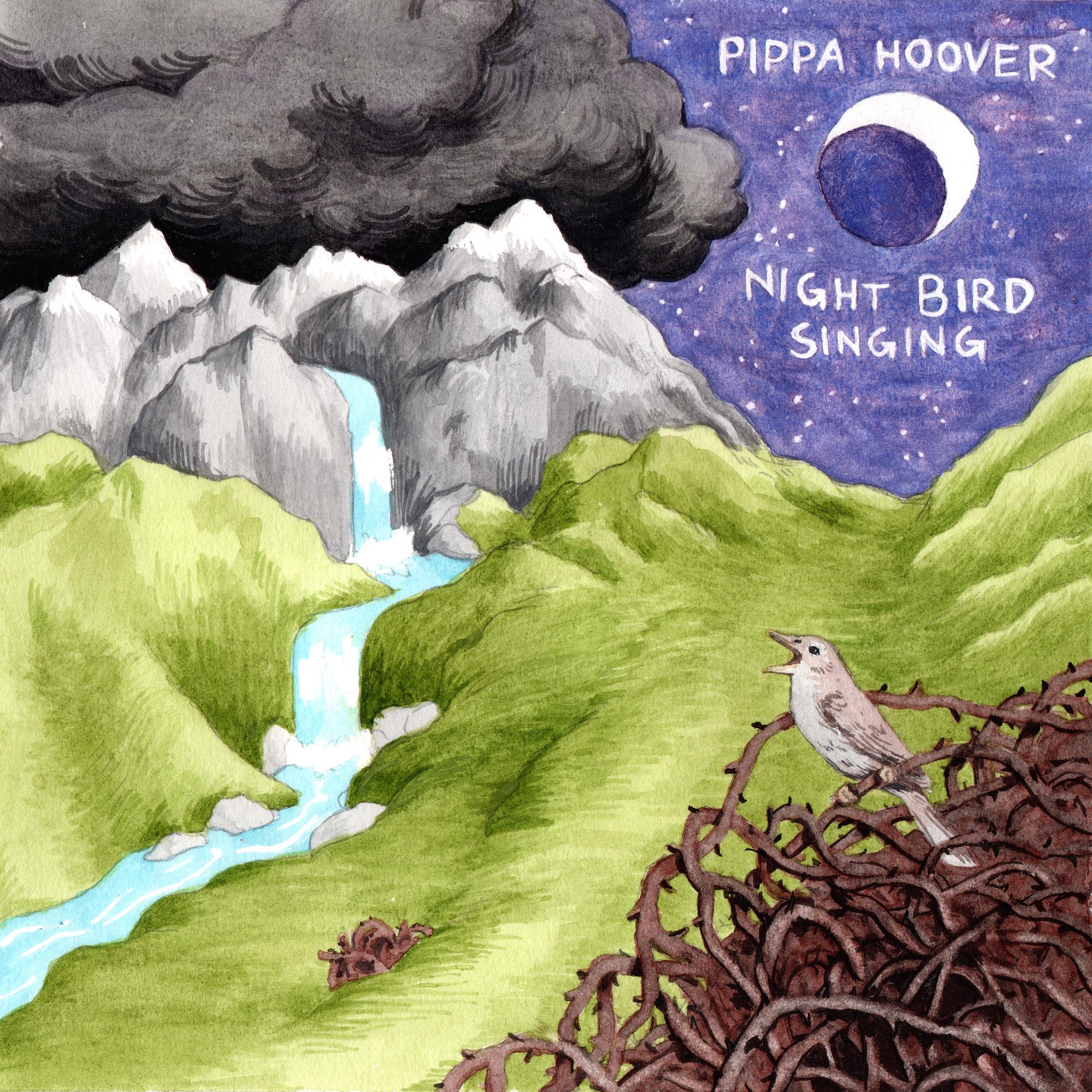 <i>Night Bird Singing</i> album cover. <br>Art by Laura Hamon.