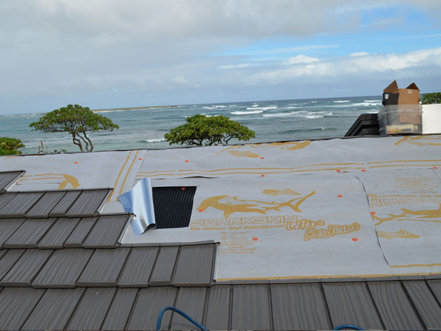 Energy Saving Roof Systems with Sharkskin Ultra Radiant and Vent Mat